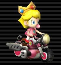 Baby Peach Light Weight Bit Bike Peach Mario Kart
