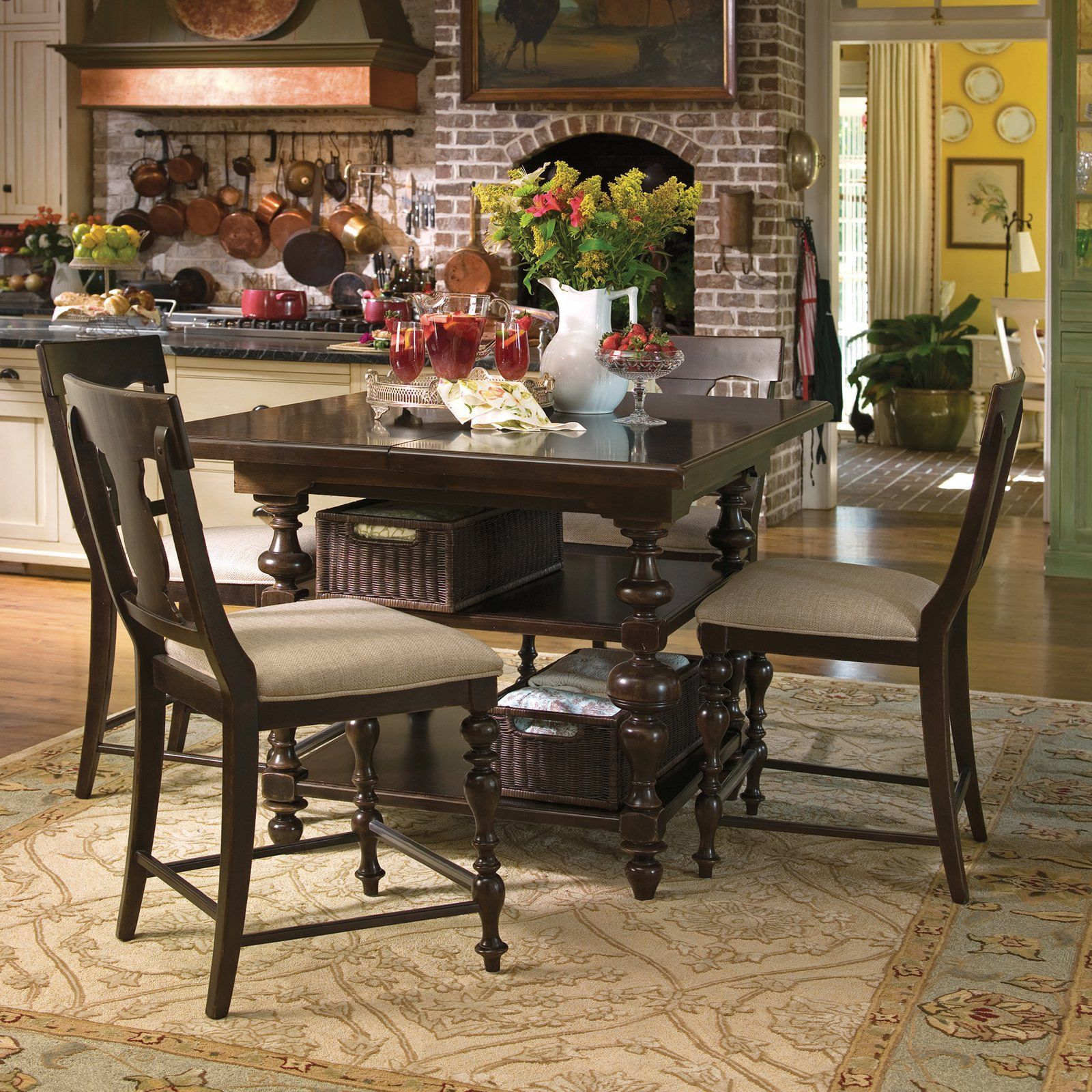 salle a manger de style campagne have to have it paula deen down home gathering table 5 piece counter height set tobacco 2750 hayneedle