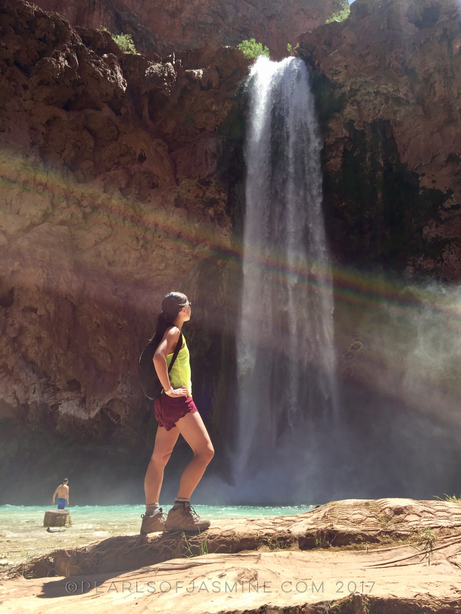 Rainbows and sunshine and waterfalls. Mooney Falls is a beaut!