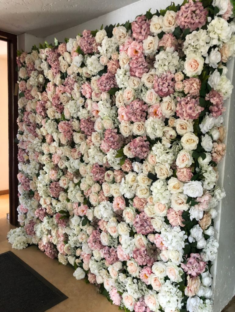 Blush Pink And White Flower Wall For Hire In South Africa In 2020 Flower Wall Wedding Flower Wall Hire Flower Wall Backdrop