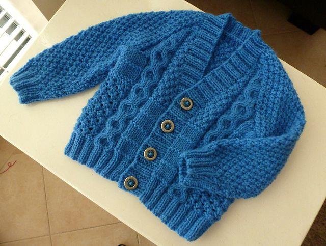 Ravelry: sofiecat\'s Boy\'s Textured Cardigan | Baby knitting ...