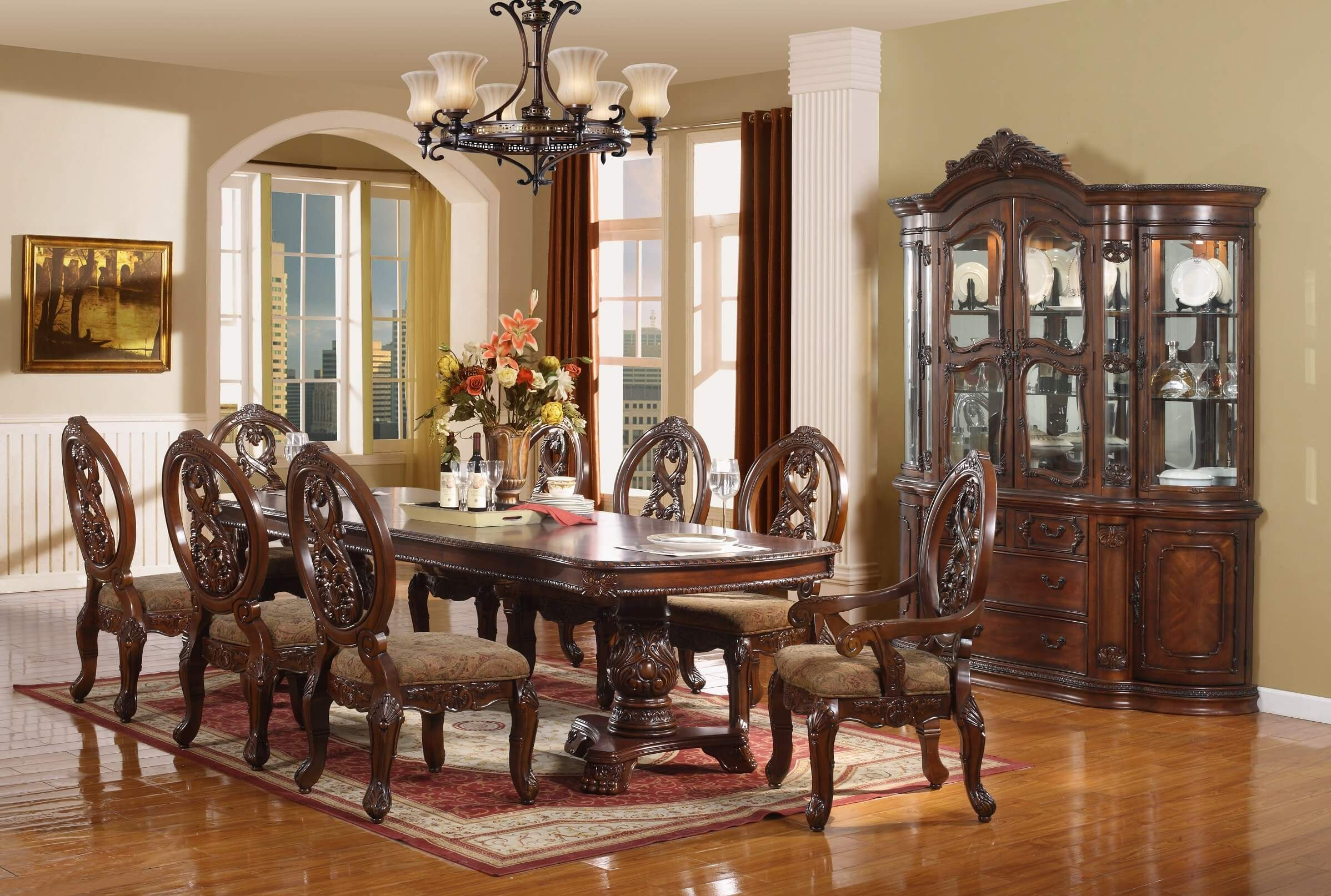 Dining Room Sets 7 Pc Cheap Piece Under 500 Dollars7 On Sale White
