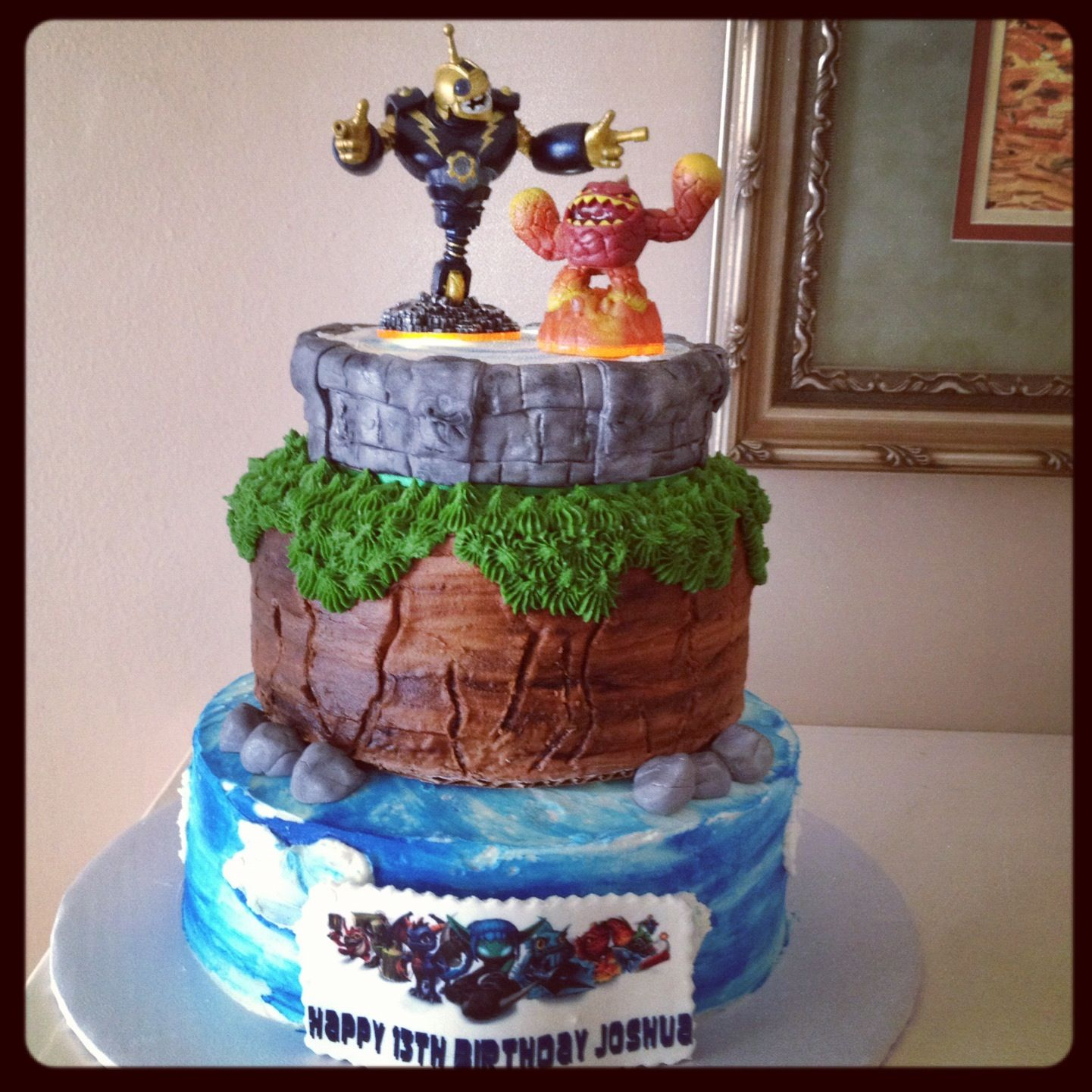 Incredible Skylanders Birthday Cake Skylanders Birthday Skylanders Funny Birthday Cards Online Inifofree Goldxyz