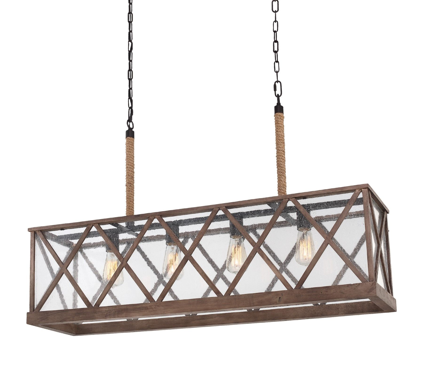 Lumiere Weathered 4Lt Chandelier Island Light