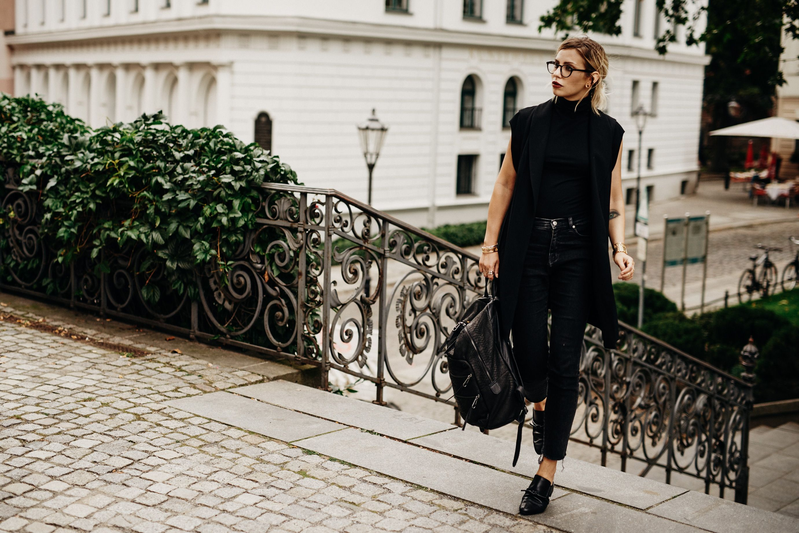 All Black Everything Outfit Fashion Style Edgy Black Dark