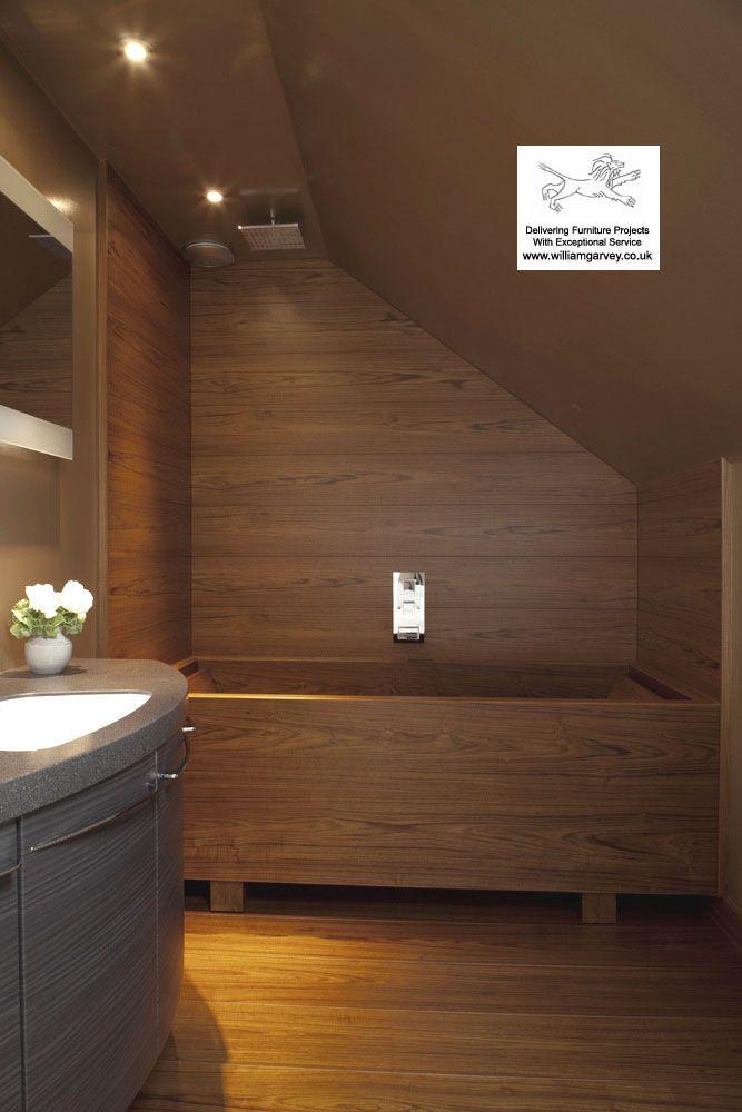 100 Waterproof Teak Shower Walls And Floorboards With Double Geo