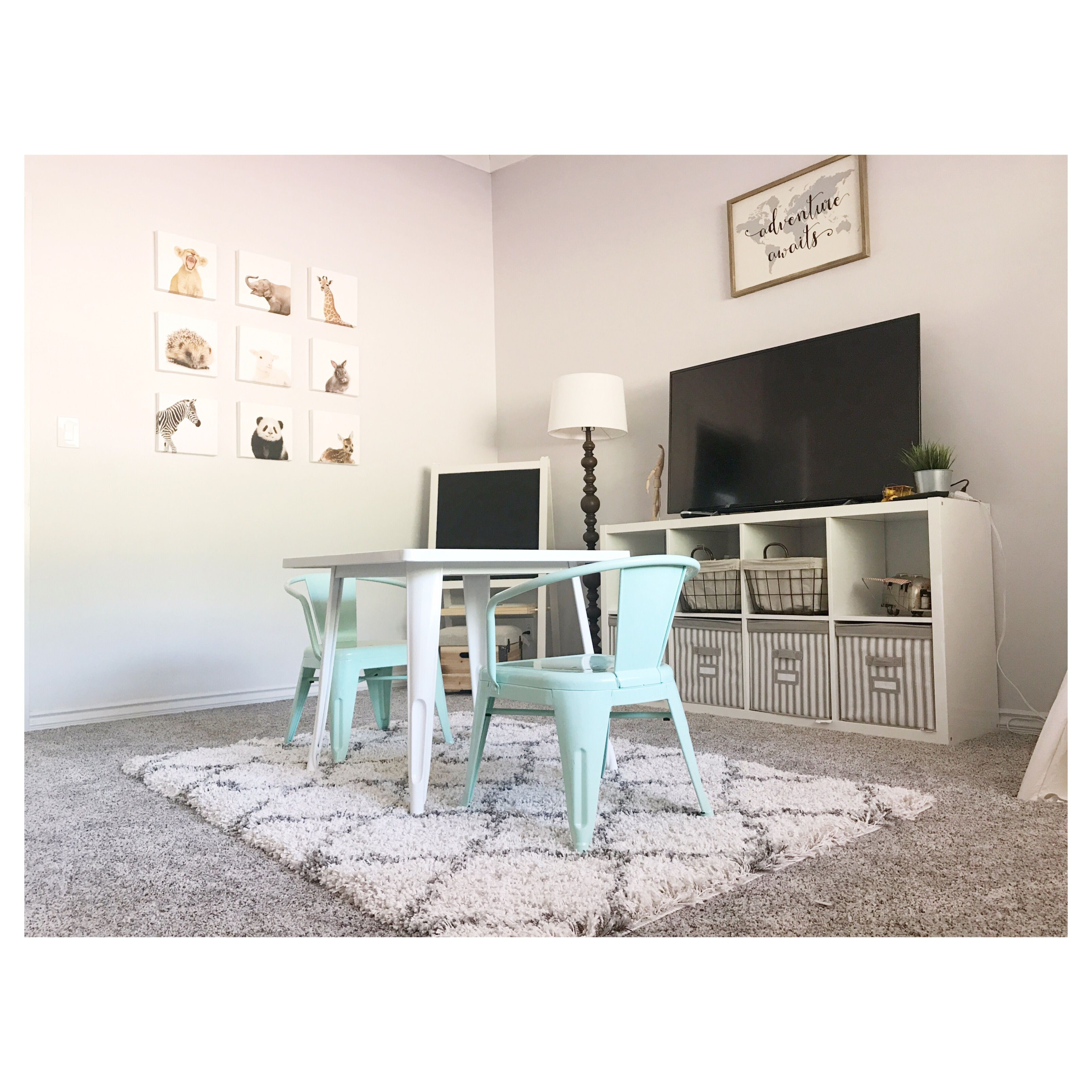 hobby lobby table and chairs childrens chair covers fixer upper playroom target kids ikea kallax sony tv fanatic homegoodness