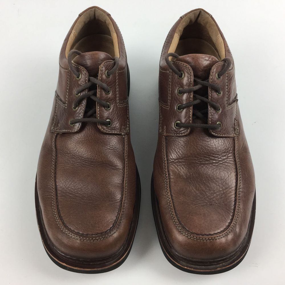 Clarks Mens Lace Up Oxfords Size 9.5 M Brown Leather Removable Insoles Shoes