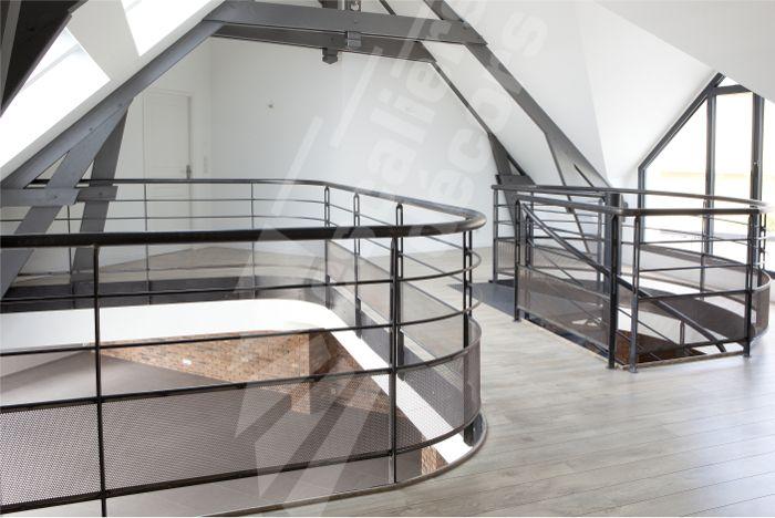 photo dh88 spir 39 d co san francisco garde corps en protection vide tr mie et mezzanine en. Black Bedroom Furniture Sets. Home Design Ideas