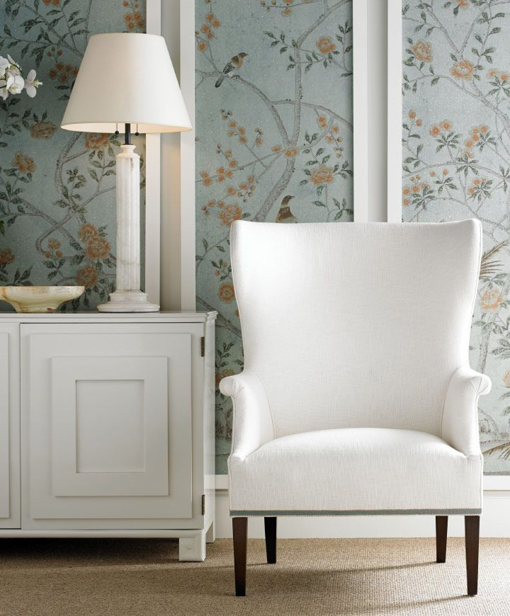 White With Floral Fabric Accents Framing Long
