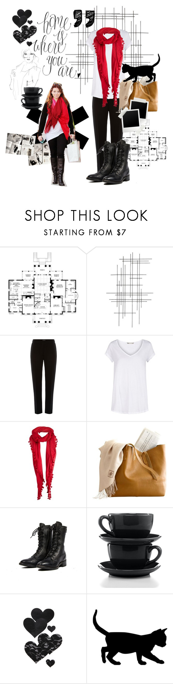 """""""kaitlyn jude driscoll."""" by thepriceofevol ❤ liked on Polyvore featuring Crate and Barrel, Pied a Terre, Sandwich, Jigsaw, Harley-Davidson, Garance Doré, Certified International, Bristols6, women's clothing and women's fashion"""