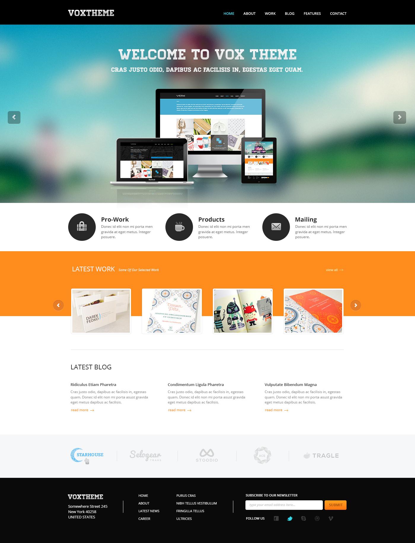 Vox Clean Modern PSD Template Pinterest Joomla Themes Psd - Web development company templates