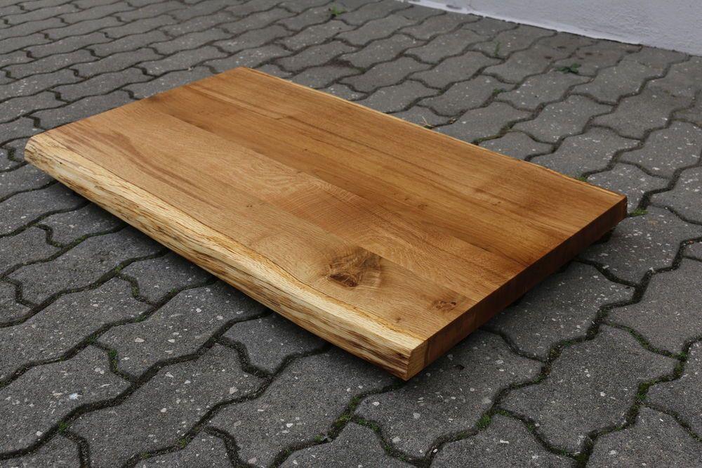 Tischplatte massivholz baumkante  Details zu Tischplatte Platte Eiche Massiv Holz mit Baumkante NEU ...