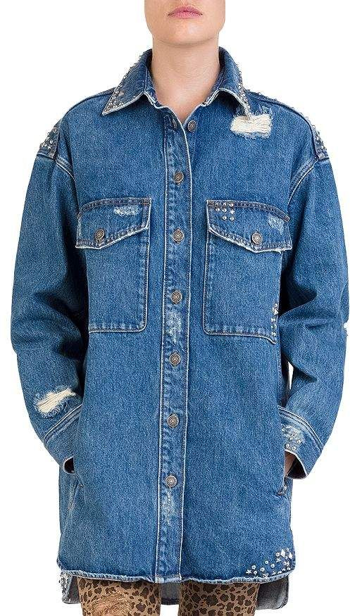 f2e4d67110 The Kooples Studded Distressed Denim Shirt in 2019 | Products ...