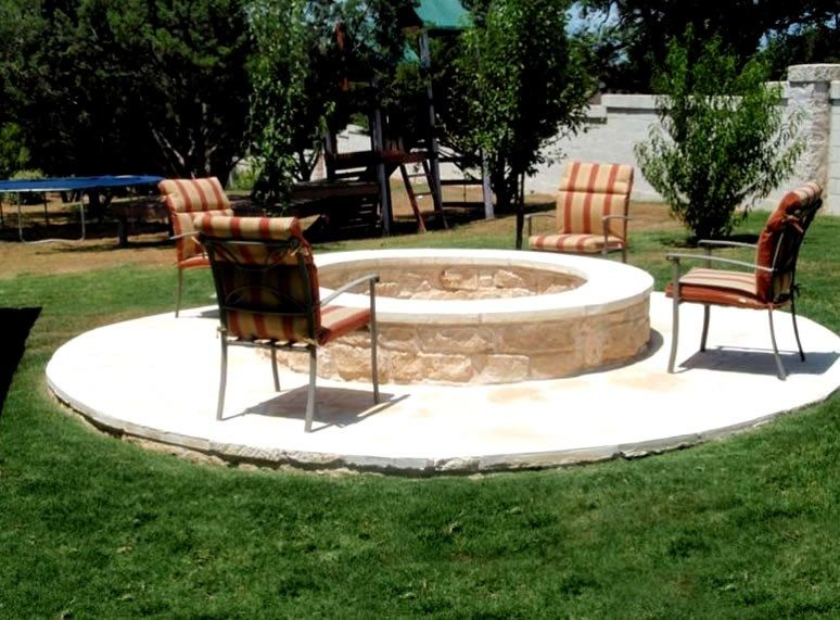 Limestone Fire Ring Fire Pit Greenscapes Landscaping And Pools