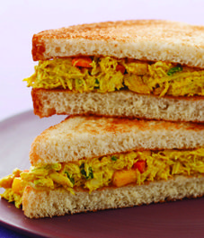 Curried chicken salad sandwich!!!! My hubby would LOVE this!!!!