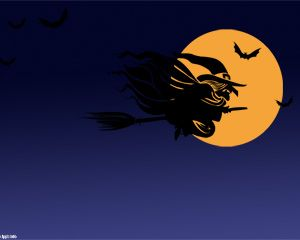 free halloween witch powerpoint template ppt is perfect for