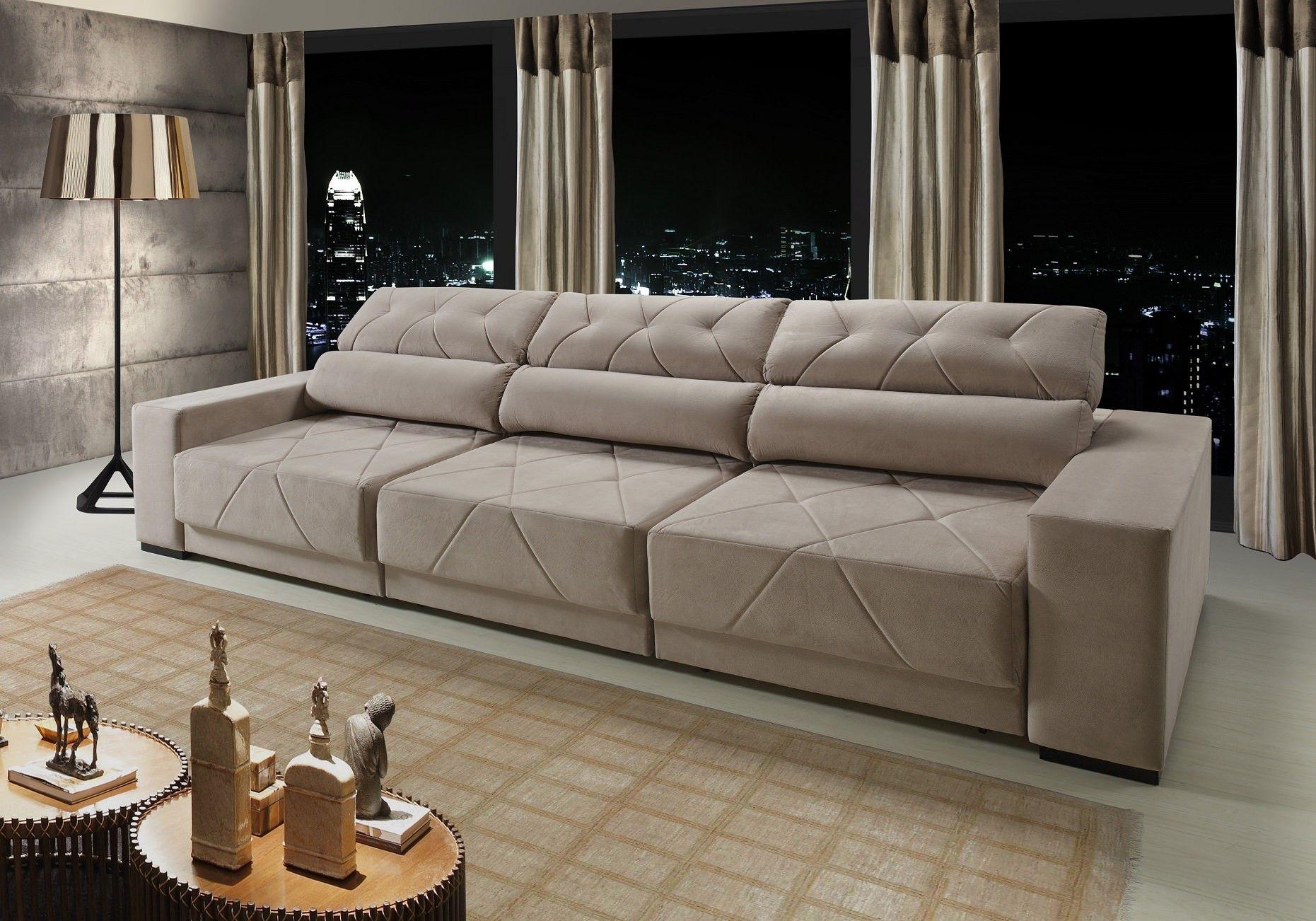 Sof floripa master 7 lugares assento retr til e encosto for Sofa zeus retratil e reclinavel