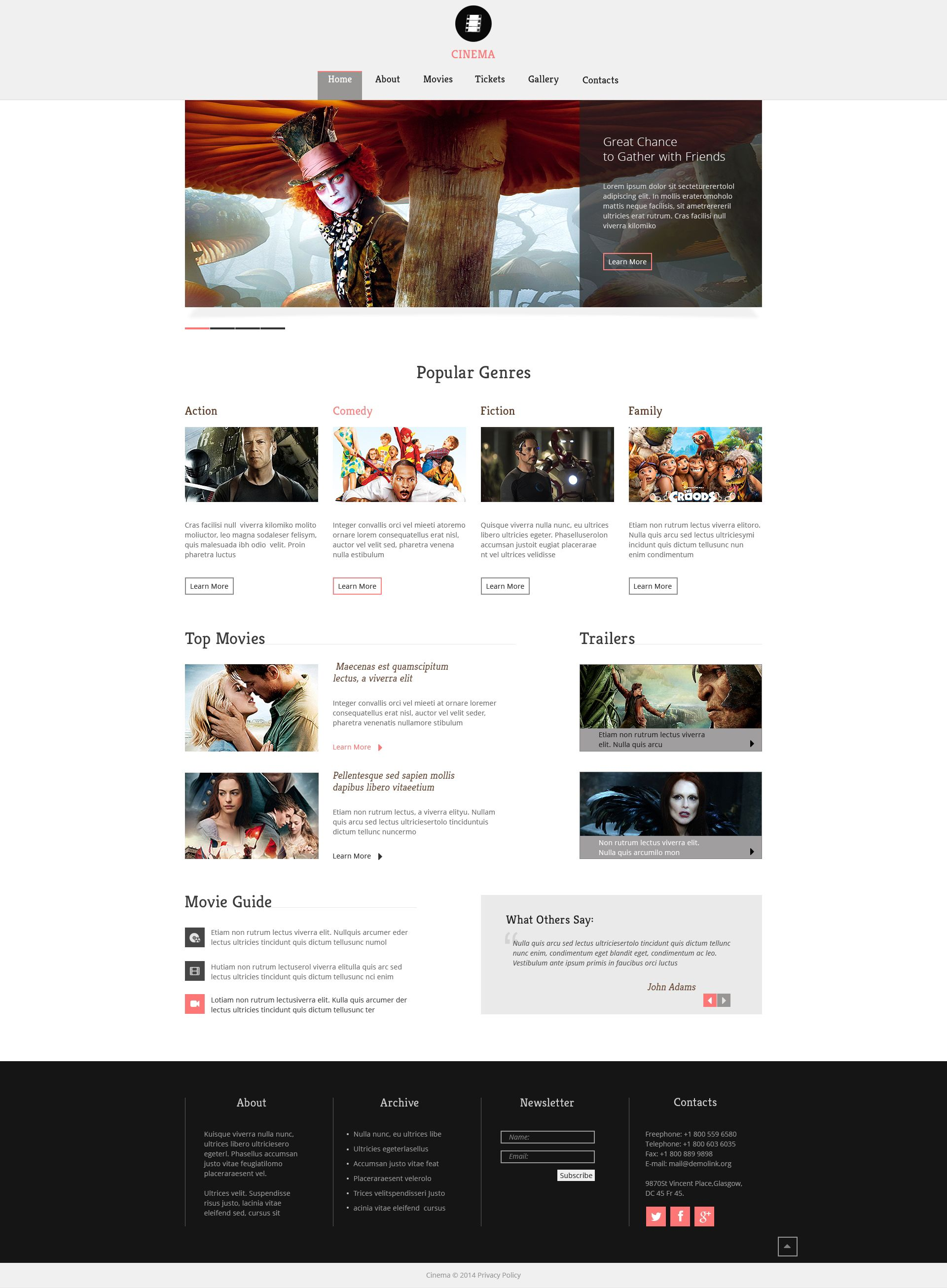 movie responsive website template website template pinterest