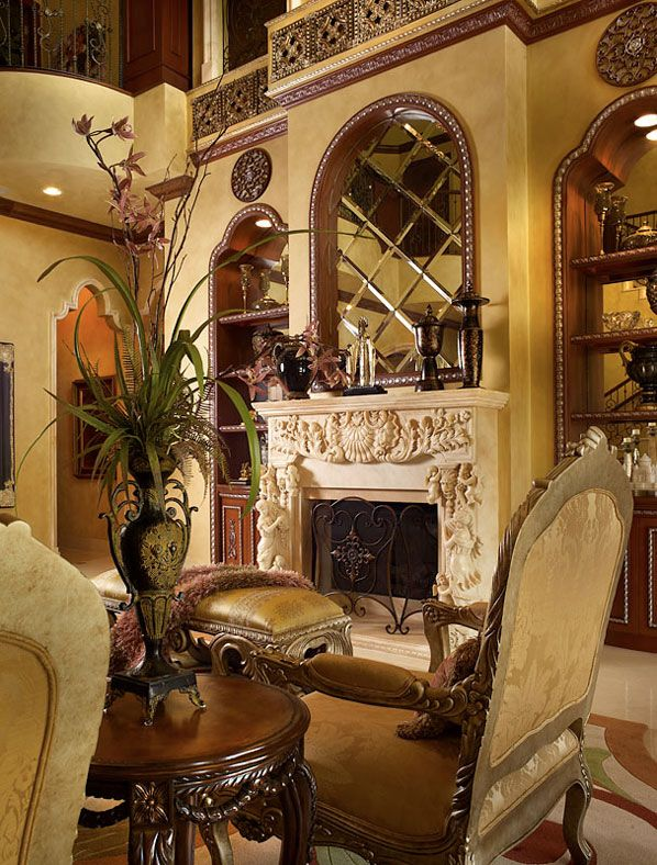 Design site. This home has gorgeous mouldings. Beautiful mirror.