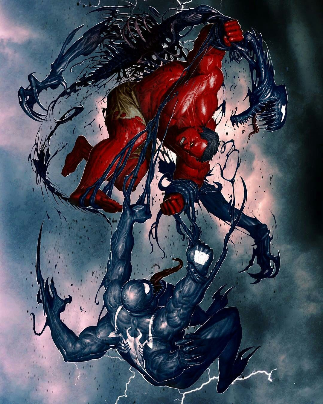 Marvel Comic Book Artwork O Red Hulk Venom Follow Us For More Awesome