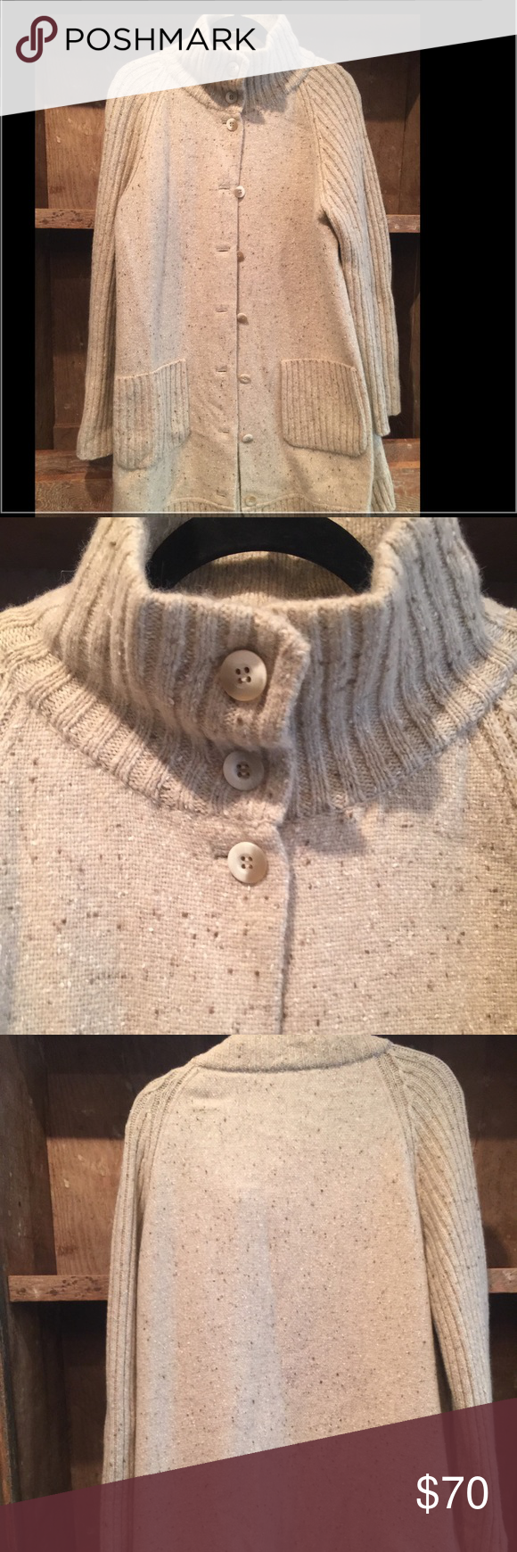 Eileen fisher long sweater This is a quality sweater-beige/longer. Size Medium. Originally $334. Eileen Fisher Sweaters Cardigans