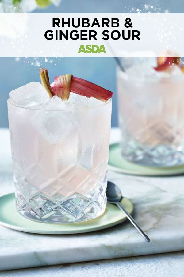 Rhubarb & ginger sour | Recipe | Gin liqueur, Christmas ...