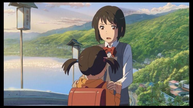 Yotsuha And Mitsuha Anime Your Name Anime Anime Movies
