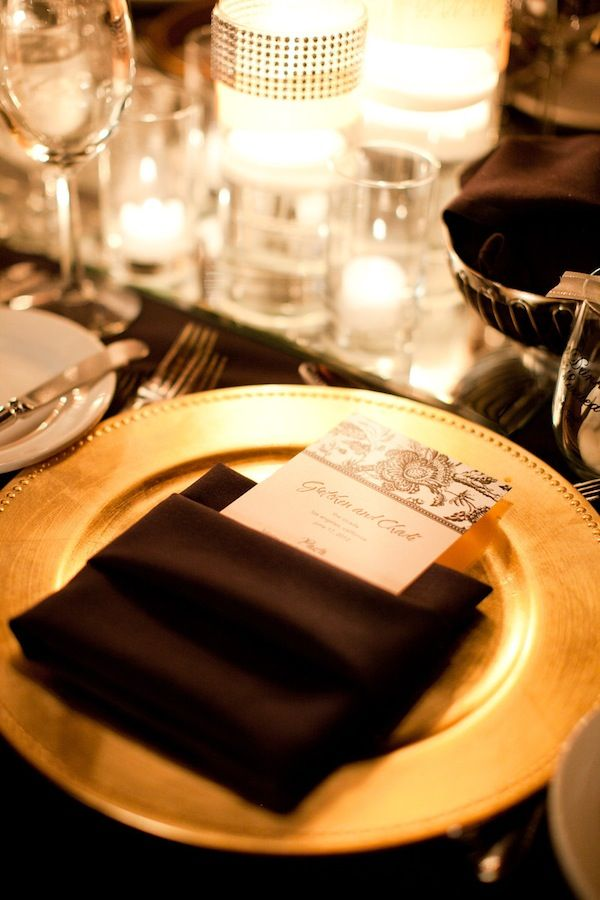 Gold Charger Table Setting | Gold chargers, Table settings and Ballrooms