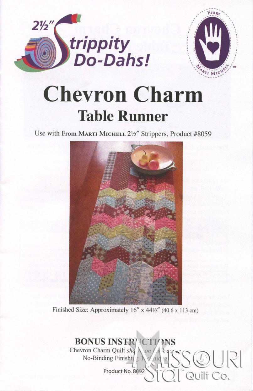 Chevron Charm Table Runner Pattern from Missouri Star Quilt Co
