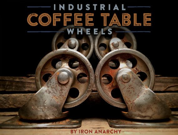 Vintage Casters Industrial Casters Coffee Table By IronAnarchy