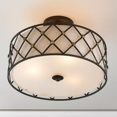 Modern Studded Lattice Ceiling Light With Images Ceiling