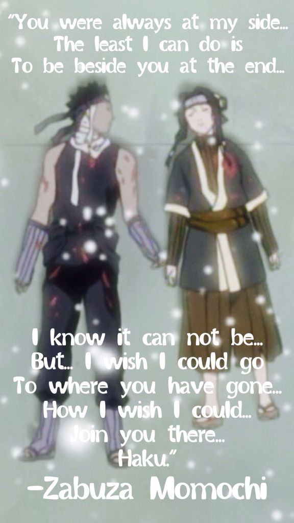 Zabuza and Haku! So sad! Naruto