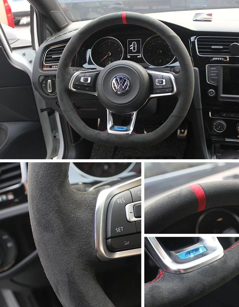 Pinalloy Synthetic Cashmere Steering Wheel Cover For Volkswagen Golf 6 7 Mk 6 7 Gti Polo Volkswagen Polo Gti Volkswagen Polo Volkswagen Golf