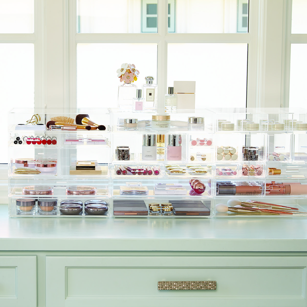 10 Ways To Organize Your Bathroom Makeup Organizer Countertop