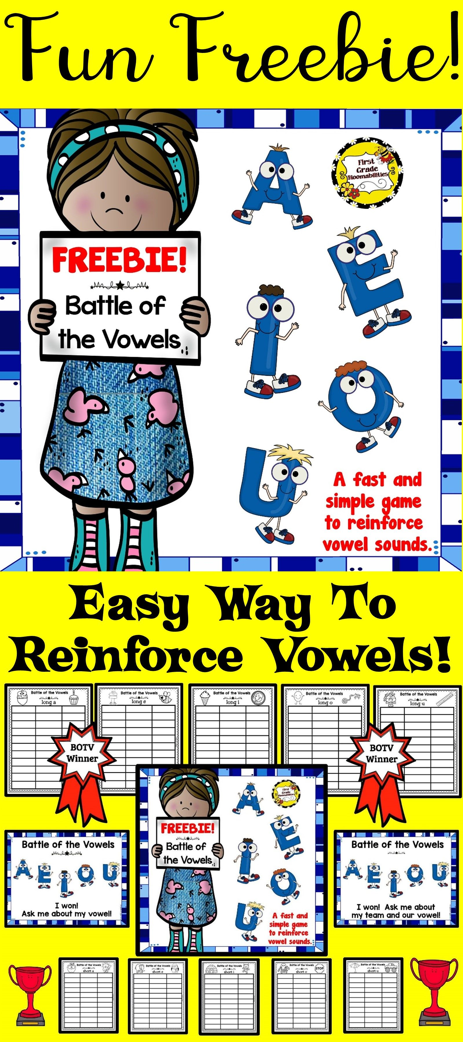 Battle Of The Vowels Game Freebie