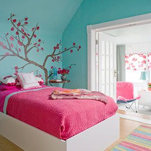 S Room Turquoise And Hot Pink This Will Be Except Walls Are