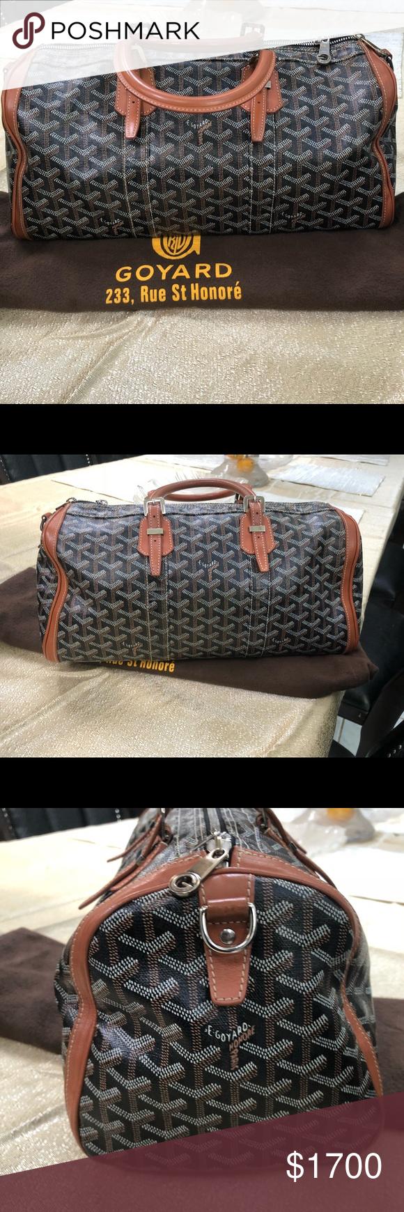 Goyard Goyardine Croisiere 40 Duffle Bag Preowned care. I ship next day.  This will 86b0108dd6