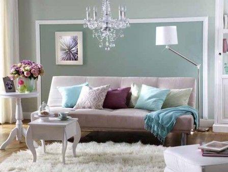 Wunderbare Wandgestaltung im Wohnzimmer Wandgestaltung