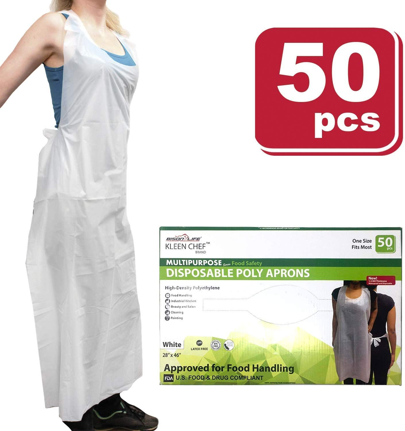 KLEEN CHEF Disposable HighDensity Polyethylene Aprons are