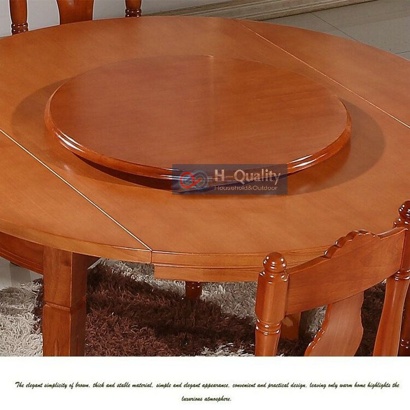 900mm 36inch Dia Solid Oak Wood Quiet Smooth Lazy Susan