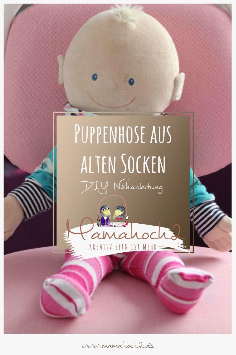 DIY - so nähst du Strumpfhosen für die Puppe aus alten Socken und Strümpfen ⋆ Mamahoch2