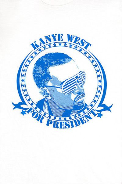 Kanye West For President T Shirt Blue On White Kanye Kanye West Hood Wallpapers