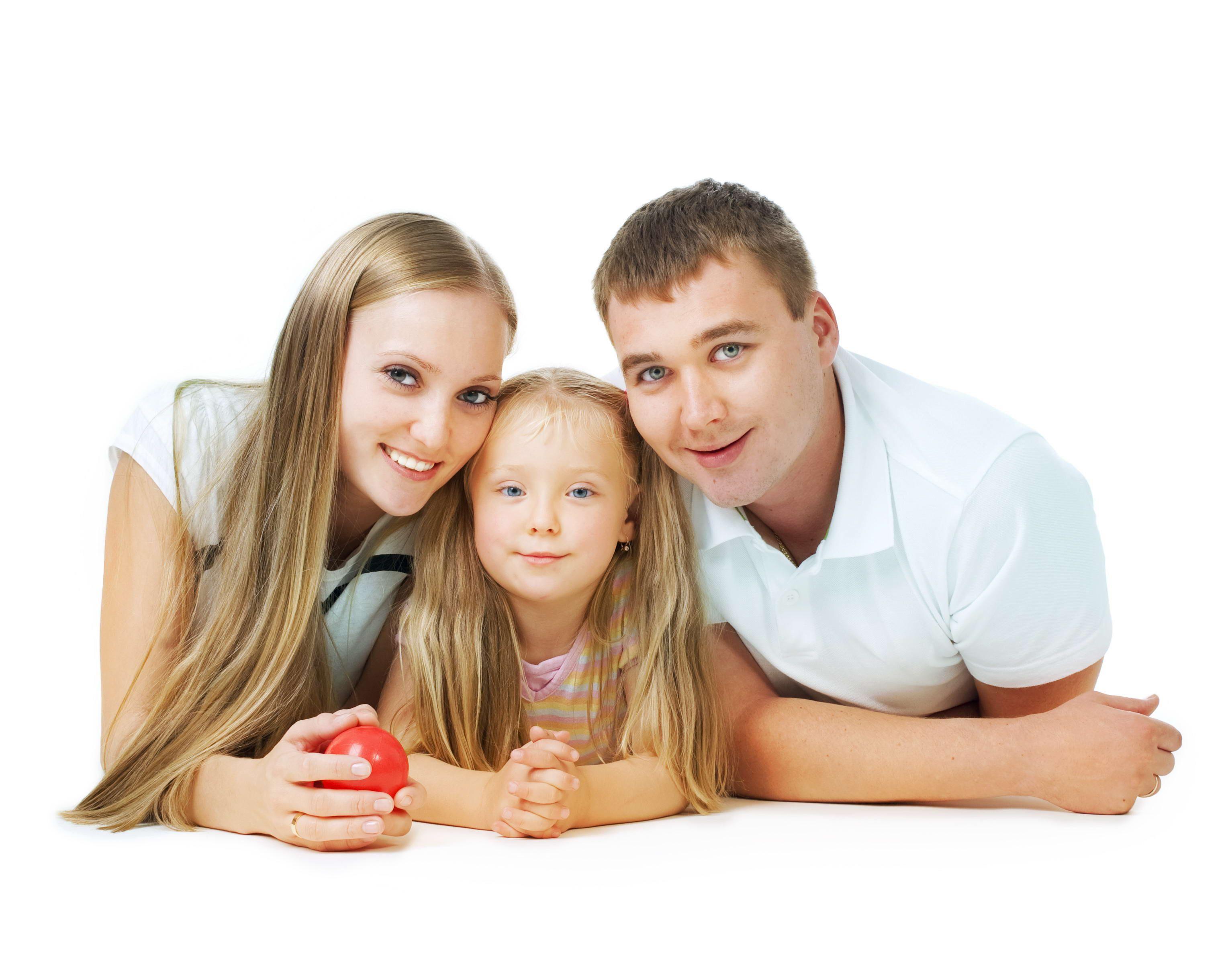 Картинки девочки с родителями