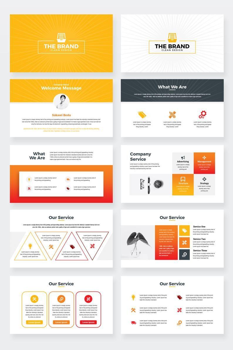 Modèle de présentation PowerPoint affaires Etsy in 2020