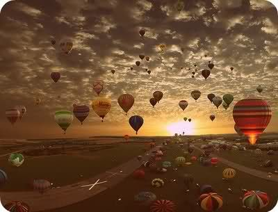 New Mexico balloon fiesta...definitely on the bucket list.  Would love to be *in* one of the balloons!