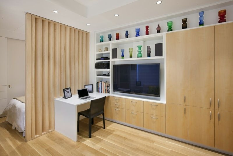 Chambre salon -aménagements astucieux pour petits espaces