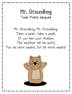mr groundhog change from a song to a poem i always