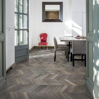 Kahrs Oak Chevron Grey Engineered Wood Flooring C I R I C E 1903