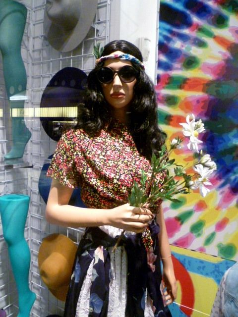 Hippie costume display in one of our NYC stores ! #Halloween #DIY